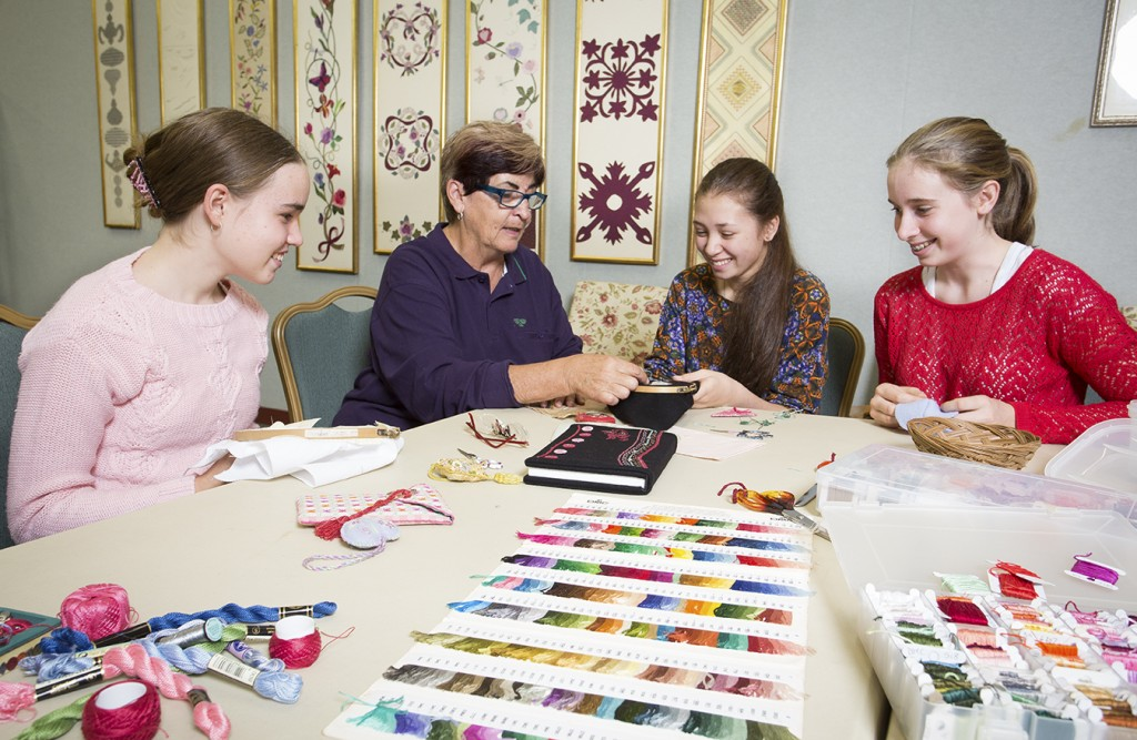 Some of our young embroiderers.